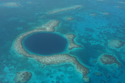 "A wonderful View ""Sightseeing flight over Blue Hole"""